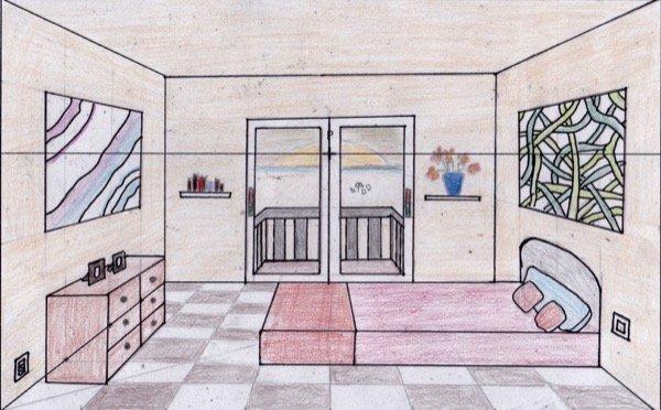 Habitaci n - Habitacion en perspectiva conica ...